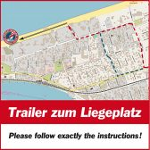 Der Weg zum Liegeplatz – The way to the berth