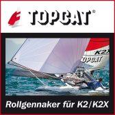 Rollgennaker K2/K2X  – Angebot der Topcat Werft für Regattasegler